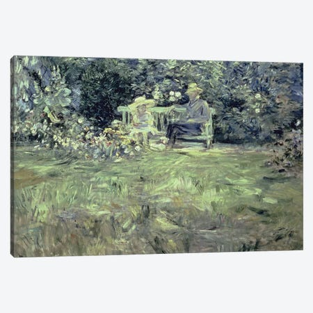 The Lesson In The Garden, 1886 Canvas Print #BMN7383} by Berthe Morisot Canvas Print