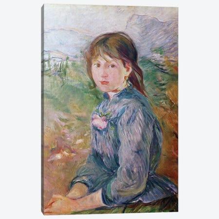 The Little Girl From Nice, 1888-89 Canvas Print #BMN7384} by Berthe Morisot Canvas Artwork