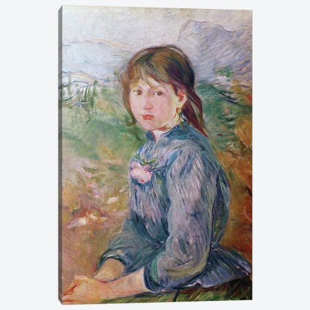 The Little Girl From Nice, 1888-89 Canvas Print #BMN7384} by Berthe Morisot Canvas Artwork