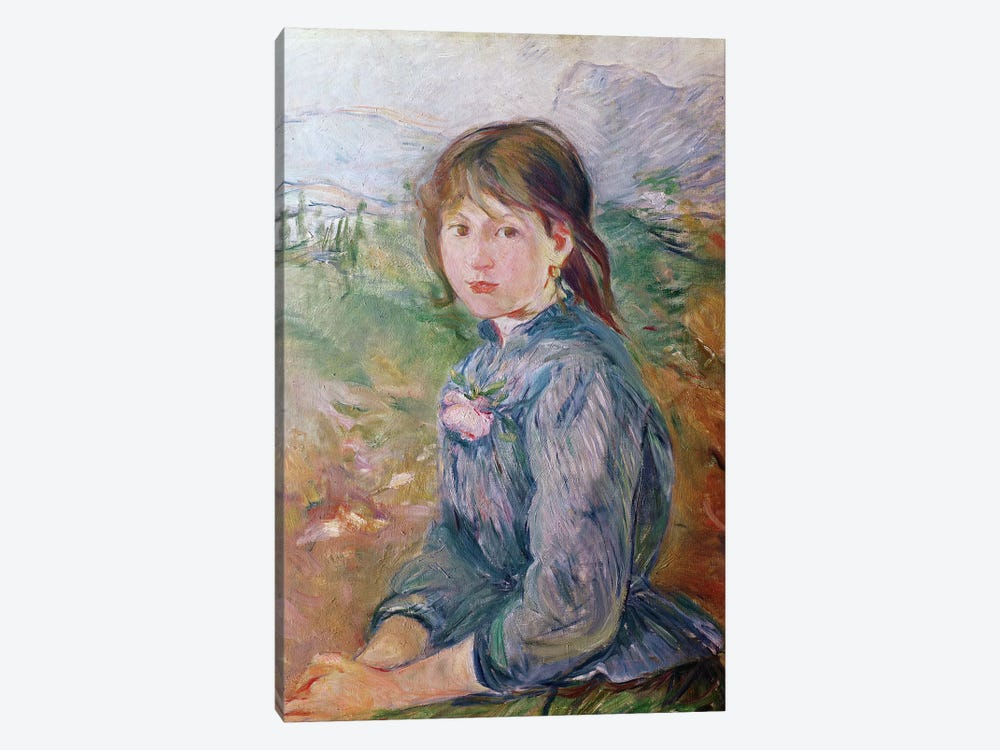 The Little Girl From Nice, 1888-89 by Berthe Morisot 1-piece Canvas Art Print