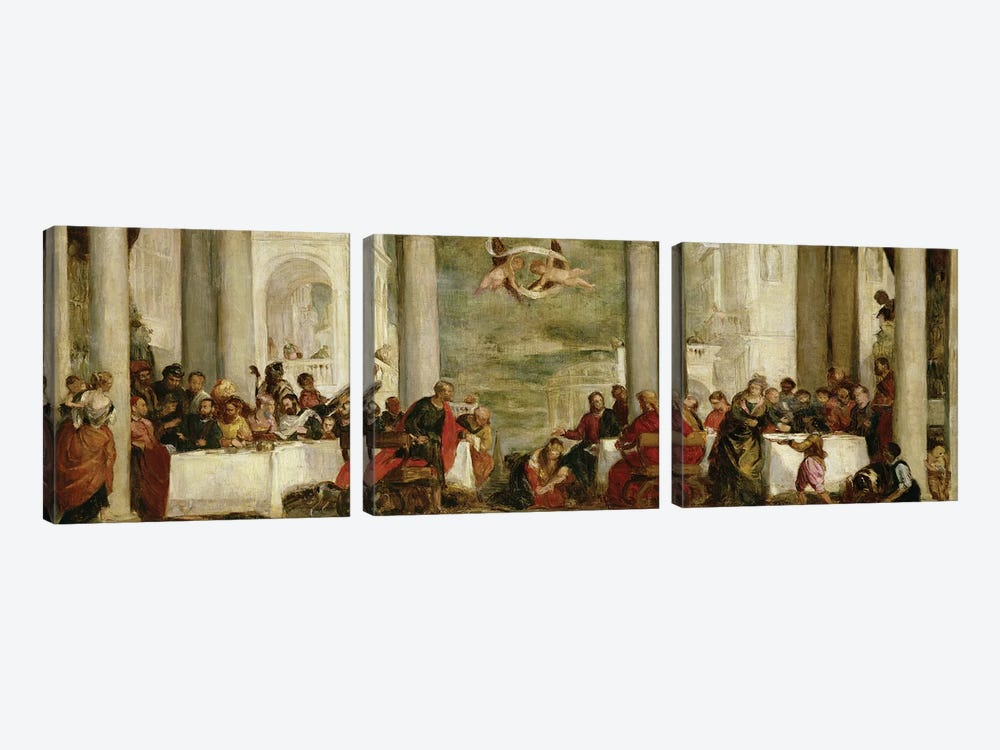 The Meal At The House Of Simon The Pharisee, After A Painting By Veronese, 1860 by Berthe Morisot 3-piece Canvas Wall Art