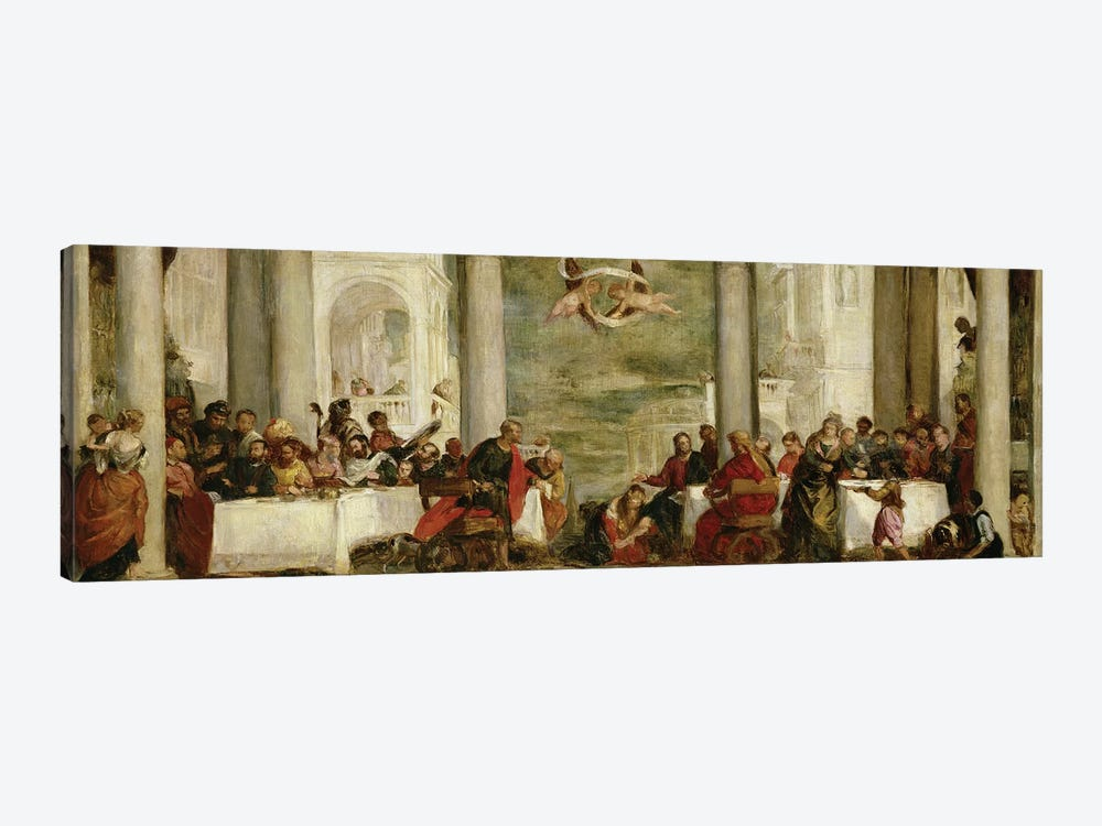 The Meal At The House Of Simon The Pharisee, After A Painting By Veronese, 1860 by Berthe Morisot 1-piece Canvas Wall Art