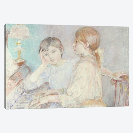 The Piano, 1888 Canvas Print #BMN7387} by Berthe Morisot Canvas Art
