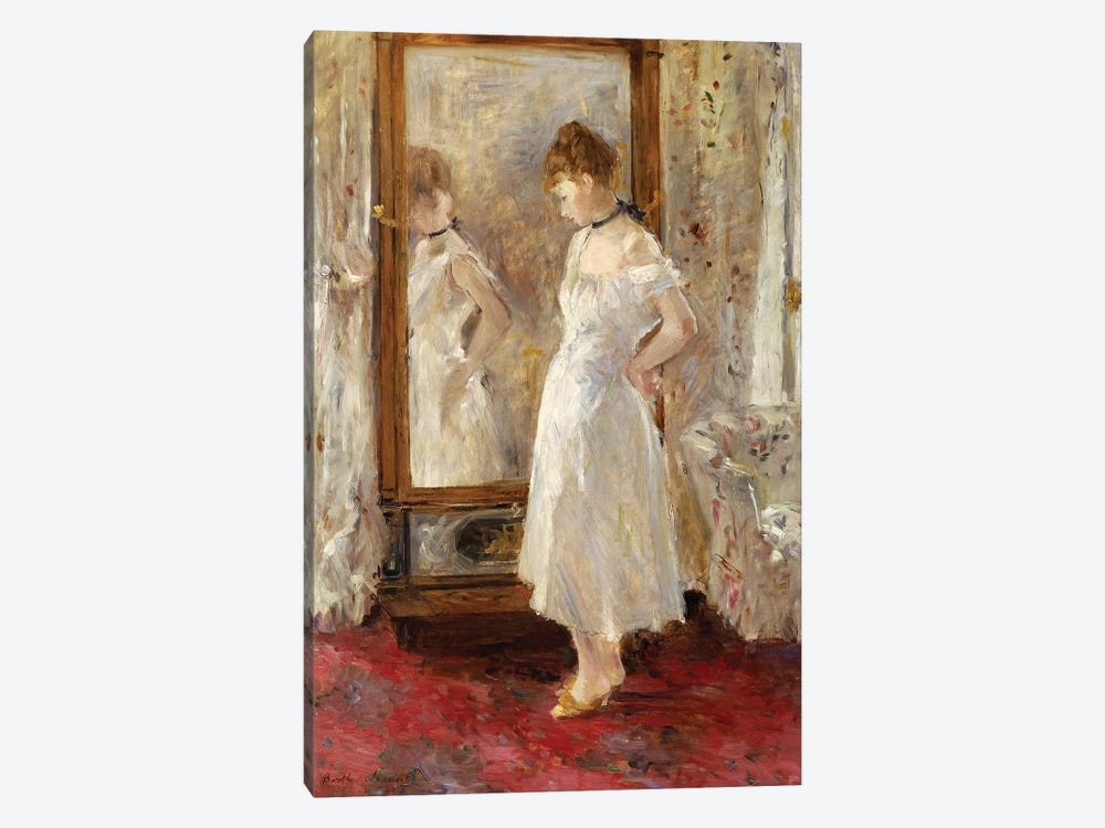 The Psyche Mirror, 1876 by Berthe Morisot 1-piece Art Print