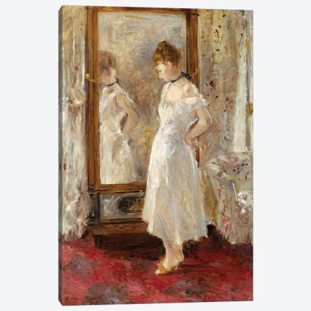 The Psyche Mirror, 1876 Canvas Print #BMN7388} by Berthe Morisot Canvas Art Print
