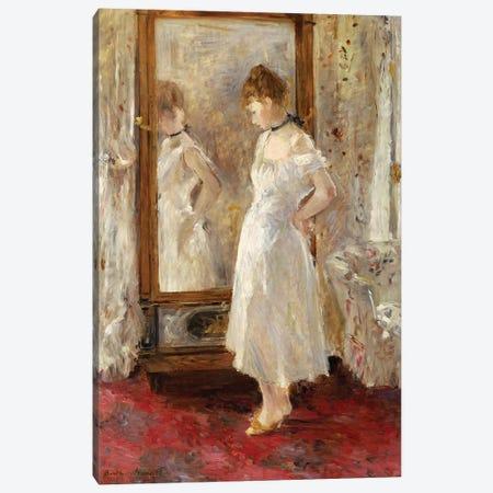 The Psyche Mirror, 1876 Canvas Print #BMN7388} by Berthe Morisot Canvas Art Print