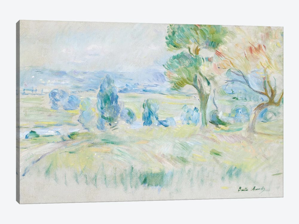 The Seine Valley At Mezy, 1891 by Berthe Morisot 1-piece Canvas Wall Art