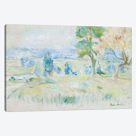 The Seine Valley At Mezy, 1891 Canvas Print #BMN7390} by Berthe Morisot Canvas Wall Art