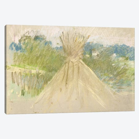 The Small Haystack, 1882 Canvas Print #BMN7391} by Berthe Morisot Canvas Art