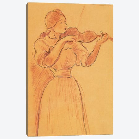 The Violin, 1894 Canvas Print #BMN7393} by Berthe Morisot Canvas Art