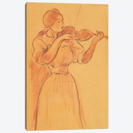 The Violin, 1894 Canvas Print #BMN7393} by Berthe Morisot Canvas Art