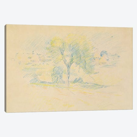 Trees And Millstones, 1883 Canvas Print #BMN7394} by Berthe Morisot Canvas Print