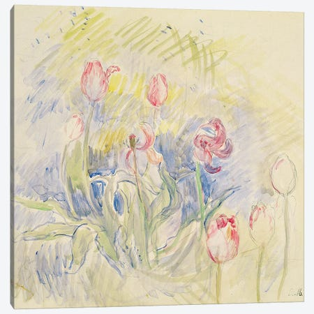 Tulips, 1890 Canvas Print #BMN7395} by Berthe Morisot Canvas Print