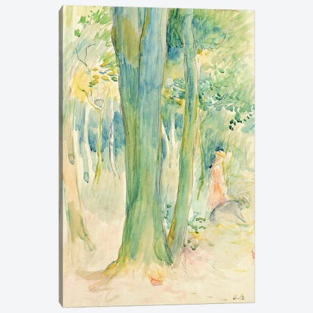 Under The Trees In A Wood, 1893 Canvas Print #BMN7396} by Berthe Morisot Canvas Art Print
