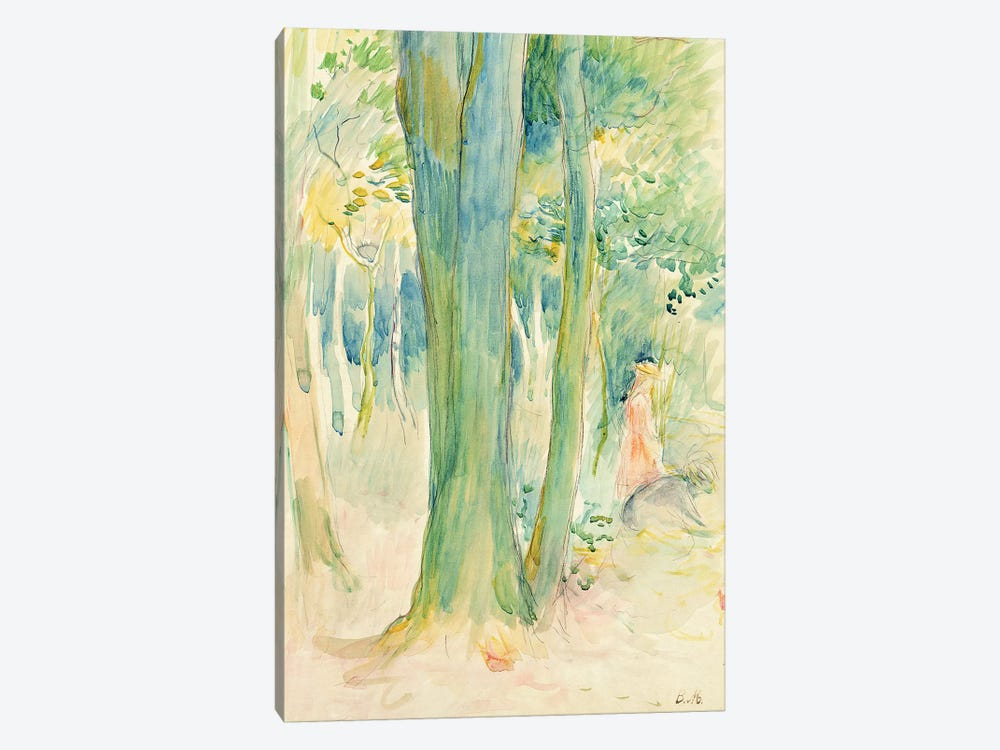 Under The Trees In A Wood, 1893 by Berthe Morisot 1-piece Canvas Art