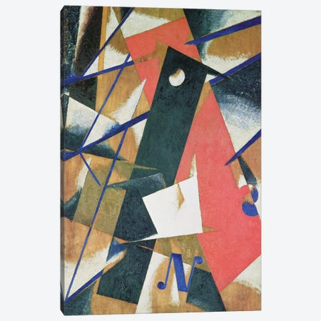Spatial Force Construction, 1921 (oil on veneer with bronze powder) Canvas Print #BMN73} by Lyubov Popova Art Print