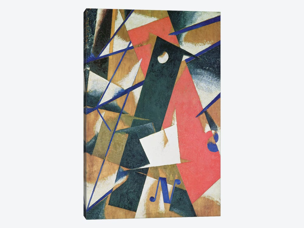 Spatial Force Construction, 1921 (oil on veneer with bronze powder) by Lyubov Popova 1-piece Canvas Art