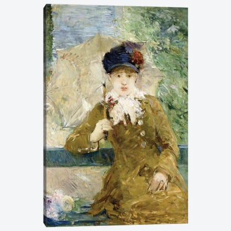 Woman With An Umbrella, 1881 Canvas Print #BMN7401} by Berthe Morisot Canvas Wall Art