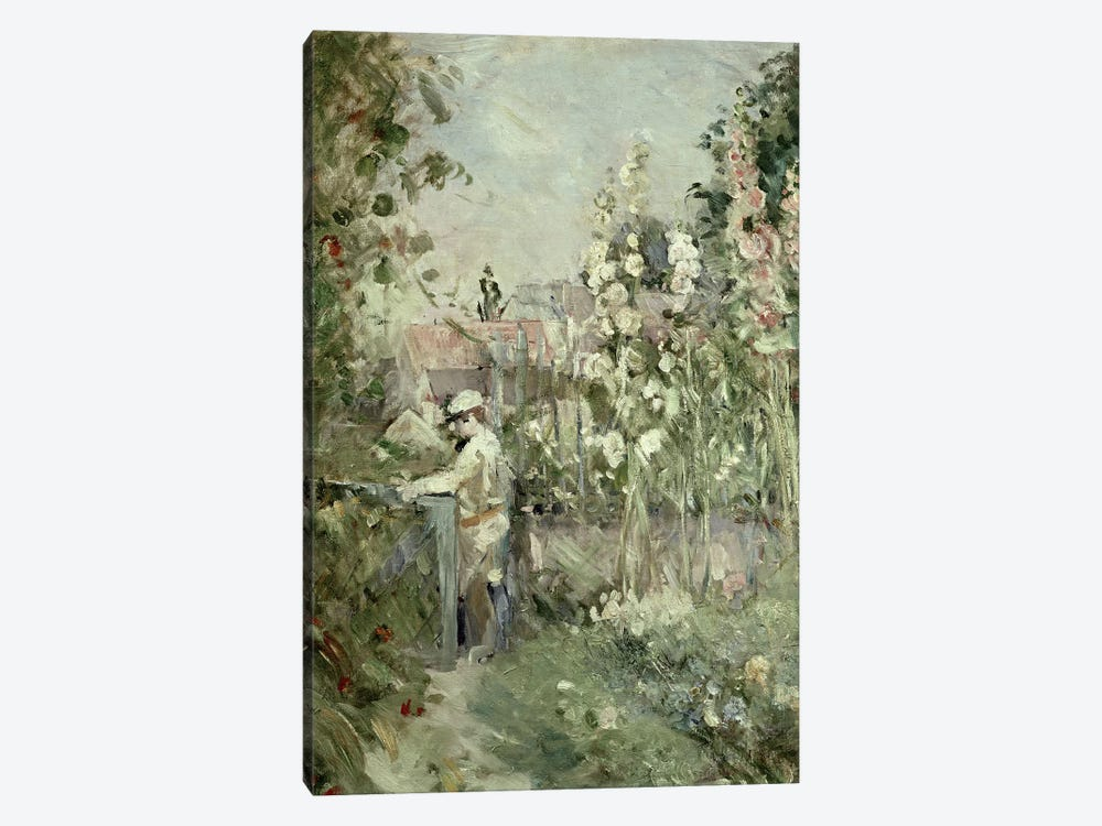 Young Boy In The Hollyhocks by Berthe Morisot 1-piece Canvas Artwork