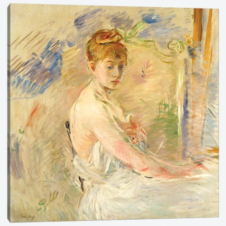 Young Girl Getting Up (Mademoiselle Euphrasie), 1886 Canvas Print #BMN7404} by Berthe Morisot Canvas Print