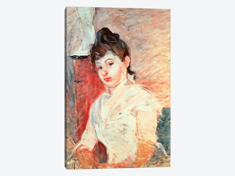 Young Girl In White by Berthe Morisot 1-piece Canvas Artwork