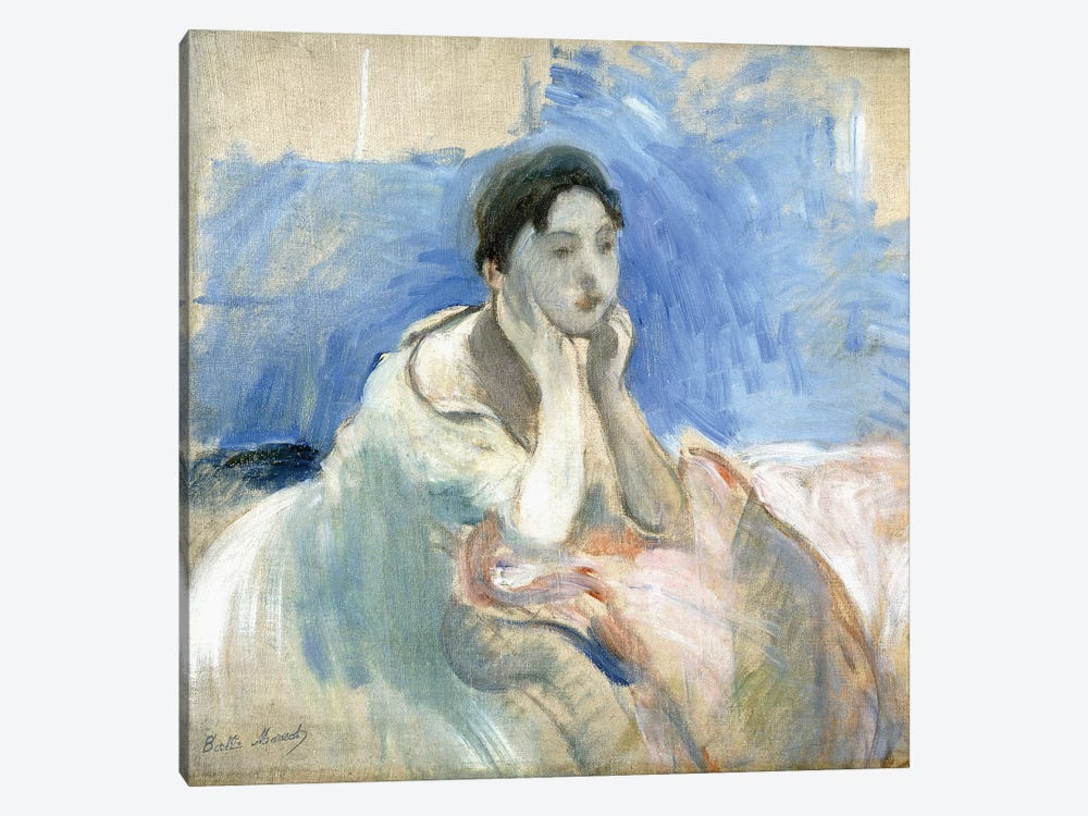 Young Girl Leaning, 1894 by Berthe Morisot 1-piece Canvas Artwork