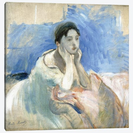 Young Girl Leaning, 1894 3-Piece Canvas #BMN7408} by Berthe Morisot Canvas Wall Art