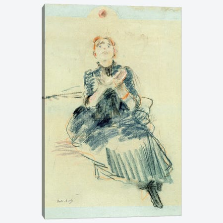 Young Girl Playing With A Ball, 1886 Canvas Print #BMN7409} by Berthe Morisot Canvas Wall Art