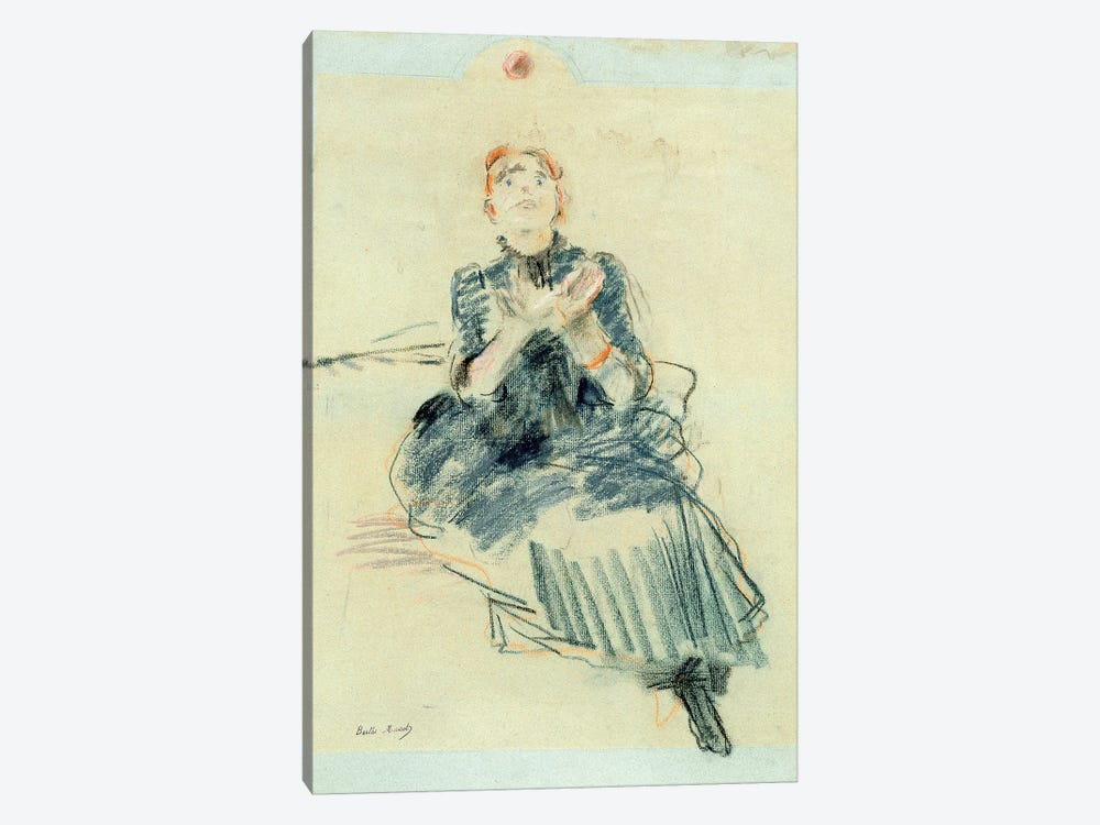 Young Girl Playing With A Ball, 1886 by Berthe Morisot 1-piece Canvas Print