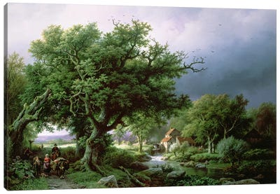 Landscape with a Mill Canvas Art Print