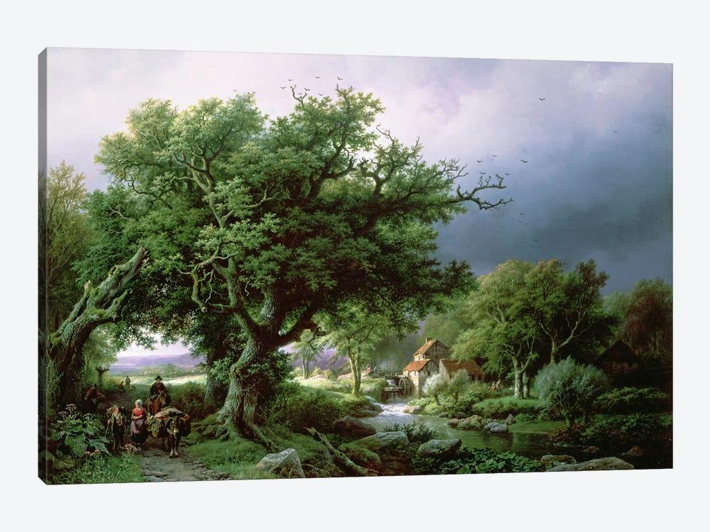 Landscape with a Mill by Barend Cornelis Koekkoek 1-piece Canvas Wall Art