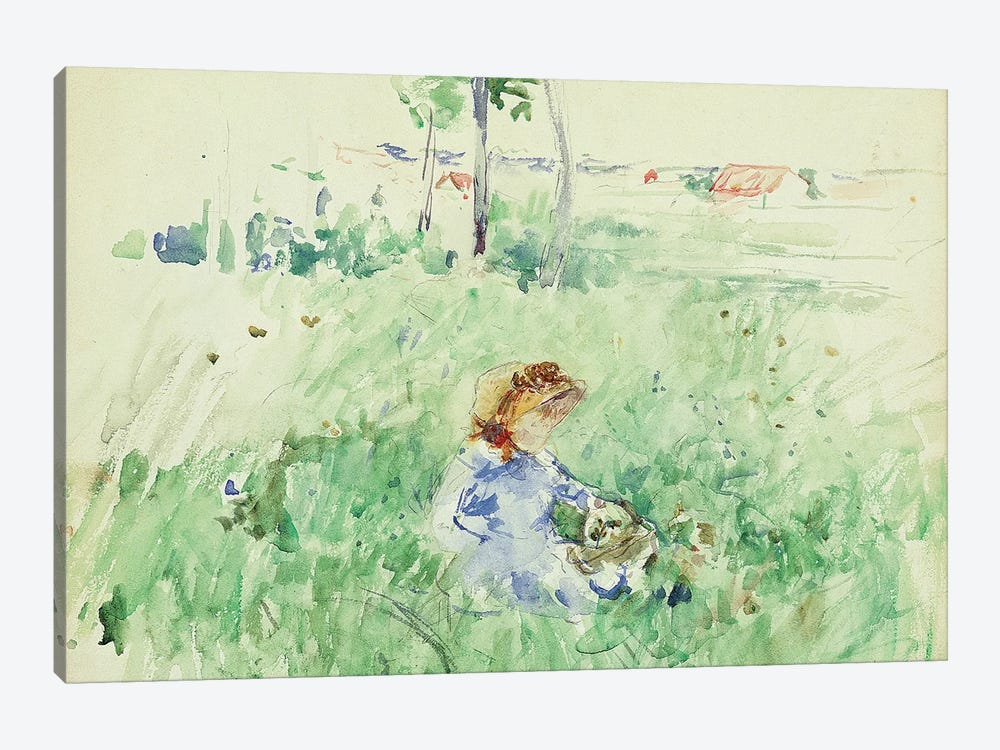 Young Girl Seated On The Lawn, 1882 by Berthe Morisot 1-piece Art Print