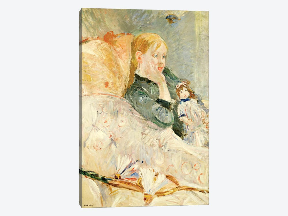 Young Girl With A Doll, 1896 by Berthe Morisot 1-piece Canvas Art