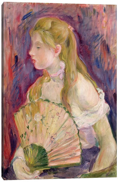 Young Girl With A Fan, 1893 Canvas Art Print