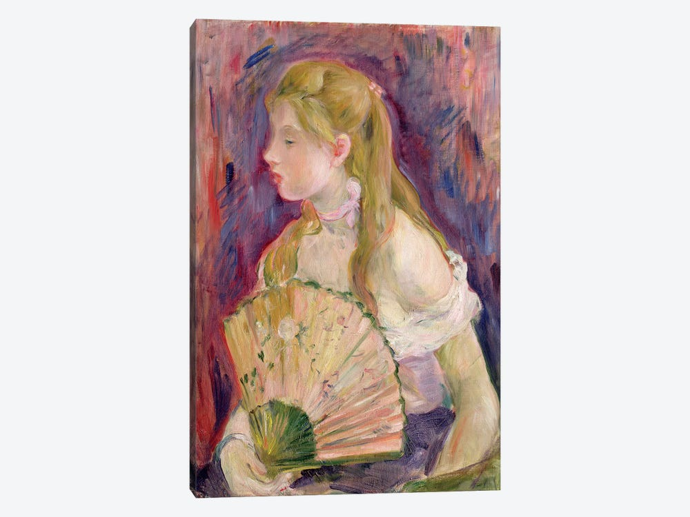 Young Girl With A Fan, 1893 by Berthe Morisot 1-piece Canvas Print