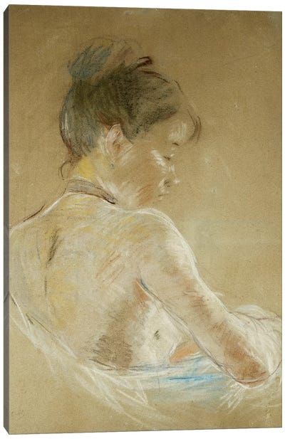 Young Girl With Naked Shoulders (Jeune Fille Aux Epaules Nues), 1885 Canvas Art Print