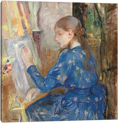 Young Girl Writing (Jeune Fille Ecrivant), 1891 Canvas Art Print