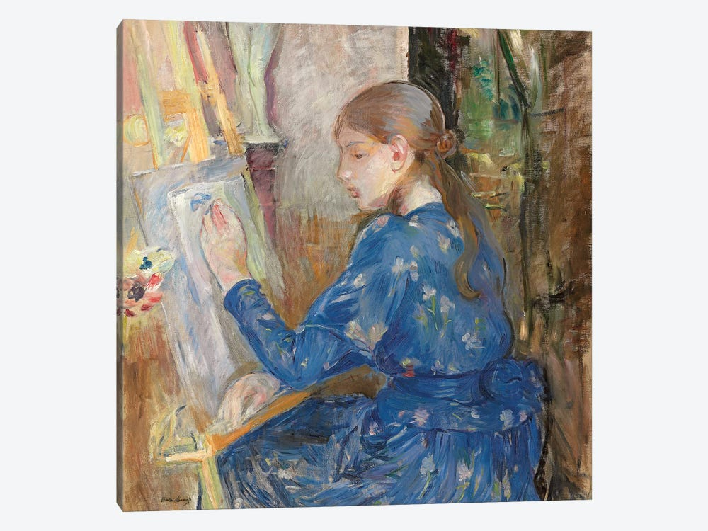 Young Girl Writing (Jeune Fille Ecrivant), 1891 by Berthe Morisot 1-piece Canvas Wall Art