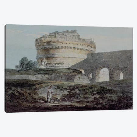 Castle of San Angelo, Rome  Canvas Print #BMN741} by J.M.W. Turner Art Print
