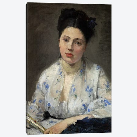 Young Woman (Jeune Femme), 1871 Canvas Print #BMN7420} by Berthe Morisot Canvas Artwork