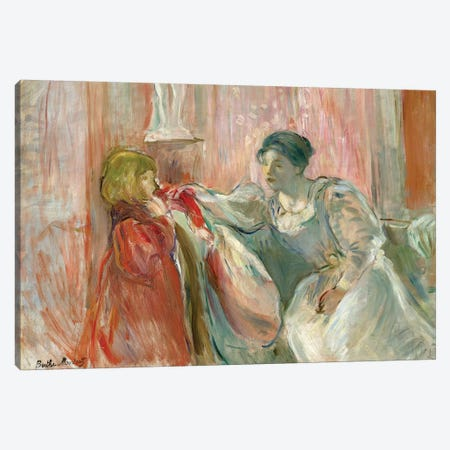 Young Woman And Child, 1894 Canvas Print #BMN7421} by Berthe Morisot Canvas Wall Art