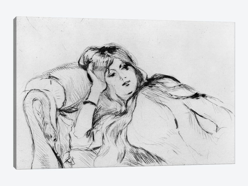 Young Woman At Rest, 1889 by Berthe Morisot 1-piece Canvas Art