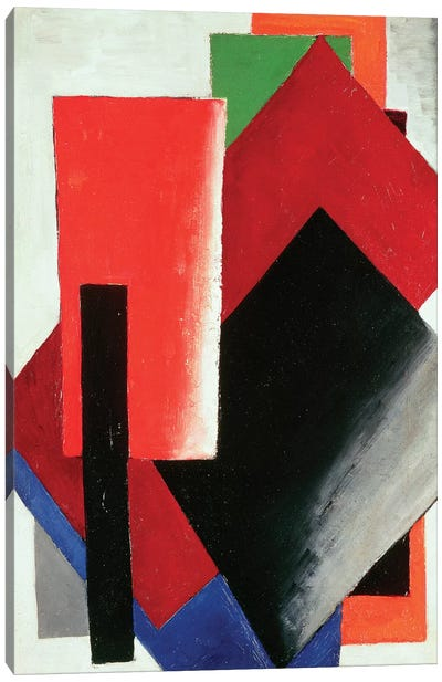 Architectonic Composition, 1918 Canvas Art Print