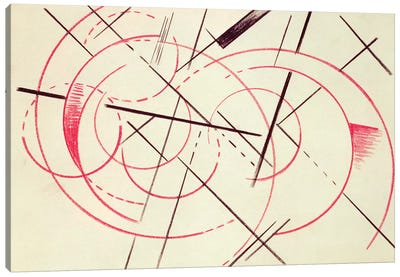 Constructivist Composition, 1922 Canvas Art Print