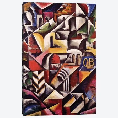 Cubist Cityscape, 1914 Canvas Print #BMN7428} by Lyubov Popova Canvas Artwork