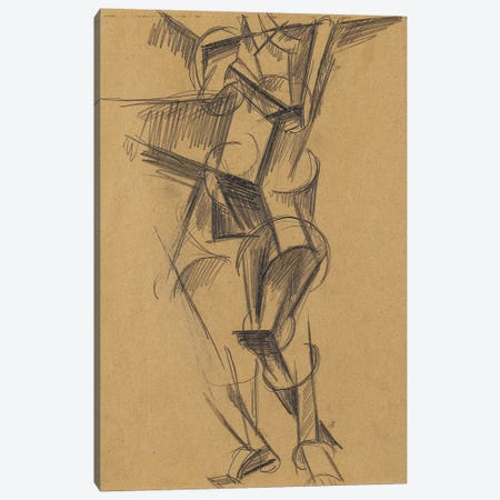 Cubist Man (Standing Figure), 1915 Canvas Print #BMN7429} by Lyubov Popova Canvas Wall Art