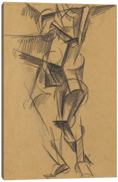 Cubist Man (Standing Figure), 1915 Canvas Art Print