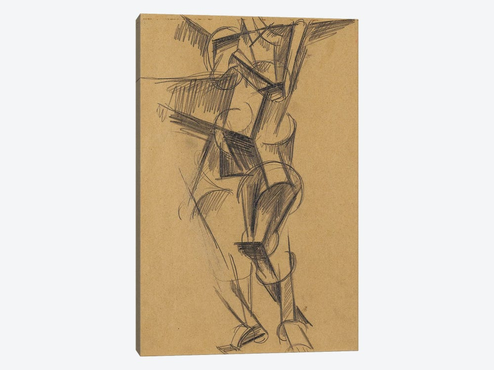 Cubist Man (Standing Figure), 1915 by Lyubov Popova 1-piece Canvas Print