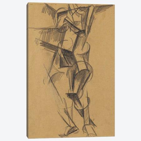 Cubist Man (Standing Figure), 1915 Canvas Print #BMN7429} by Lyubov Popova Canvas Wall Art