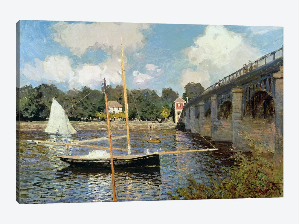 The Seine at Argenteuil  by Claude Monet 1-piece Canvas Wall Art
